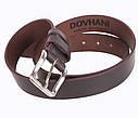Мужской кожаный ремень Dovhani LD666-2 115-125 см Коричневый, фото 4