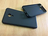 Оригинальный черный матовый силиконовый чехол для Meizu M5C