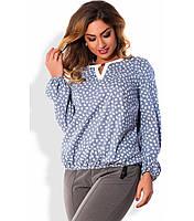 Блуза с рукавами на резинке размер от XL 3087