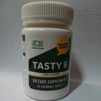 Тэйсти Би со вкусом лайма (Витамины группы В) Корал Клаб, 30 жевательных таблеток., фото 2