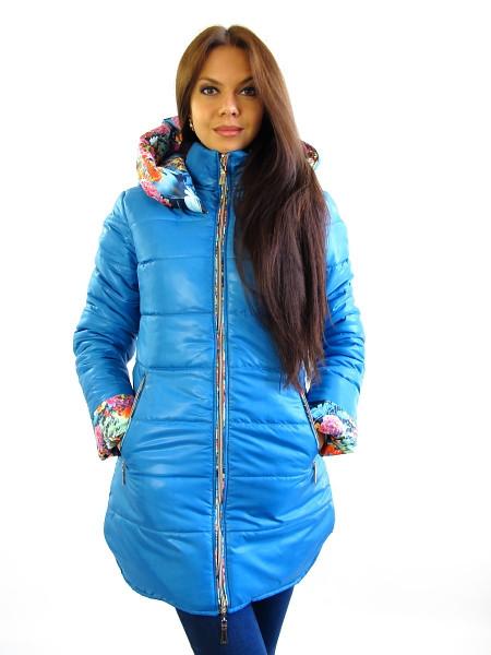 Тепла зимова жіноча куртка з капюшоном