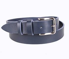 Мужской кожаный ремень Dovhani LD666-4 115-125 см Синий
