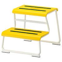 ГЛОТТЕН Табурет-лестница, желтый/белый, 30271368 IKEA, ИКЕА, GLOTTEN