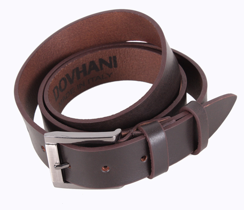 Мужской кожаный ремень Dovhani LD666-5 115-125 см Коричневый