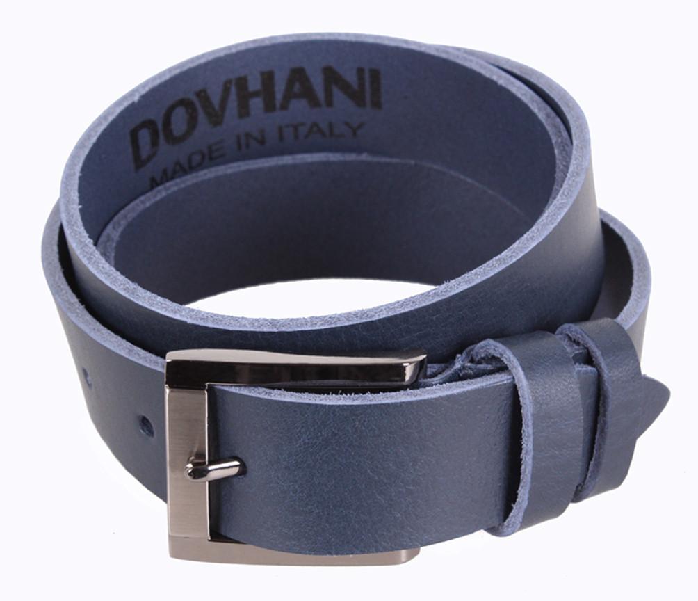 Мужской кожаный ремень Dovhani LD666-7 115-125 см Синий