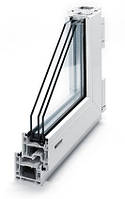 Металлопластиковые окна КВЕ Классик, монтажная глубина 58 мм., 3 камеры, фото 1