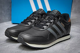 Кроссовки мужские в стиле Adidas  Haven, черные (12011),  [  46 (последняя пара)  ]