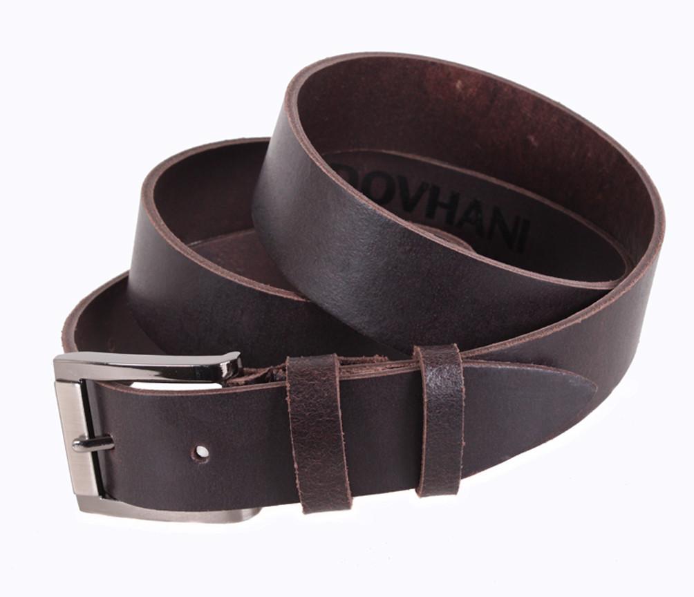 Мужской кожаный ремень Dovhani SP999-5 115-125 см Коричневый