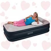Intex 67732 (99х191х43 см.) + 220V. Надувная кровать Twin Deluxe Pillow Rest односпальная.