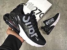 Мужские кроссовки Nike Air Max 270 черные топ реплика, фото 3