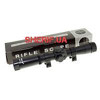 Прицел оптический для пневматических ружей Tasco RF 4х20C (короткий, с креплением) 11220