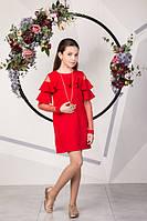 Нарядное платье с воланами на девочку подростка Размеры 134- 158 Хит продаж!