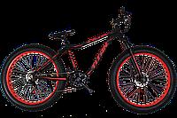 Фэтбайк велосипед Titan Stalker 26″ (FatBike) vs SUSP NEW 2018 (Black-Red)