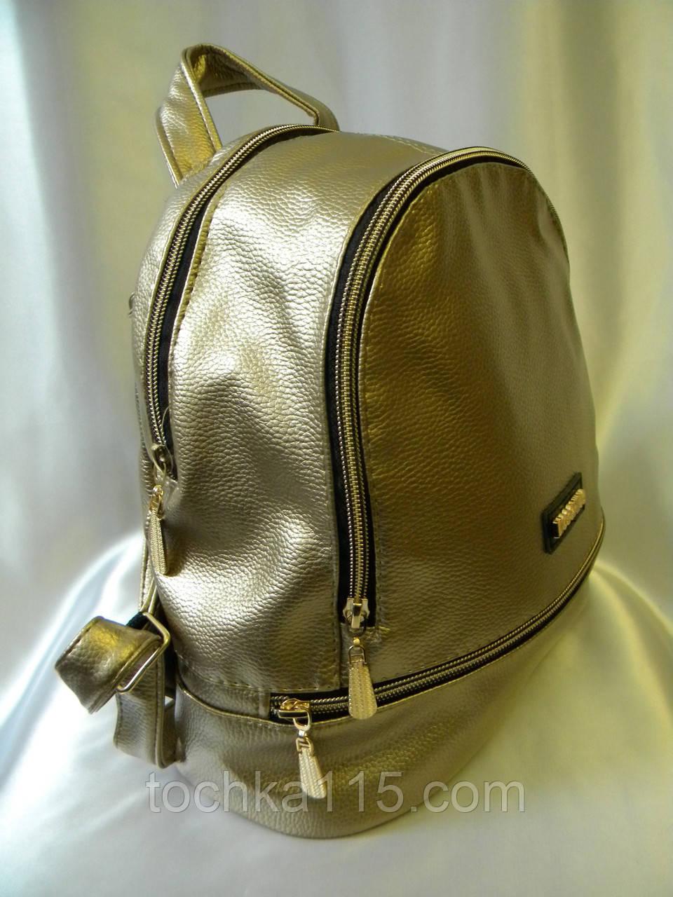 Женский стильный рюкзак MOSCHINO рюкзак женский золотистый реплика