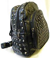 Женский кожаный  рюкзак JSC черный, фото 1