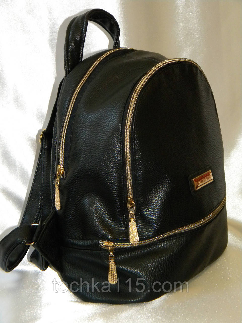 Женский рюкзак кожаный Tommy Hilfiger, женский городской рюкзак черный реплика