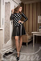 Весеннее платье ромашками черное