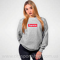 Свитшот Supreme Box Logo Женский | Вышивка | Ориг Бирки