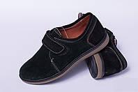 Подростковые туфли из натуральной кожи на липучке, детская кожаная обувь от производителя модель ДЖ3719