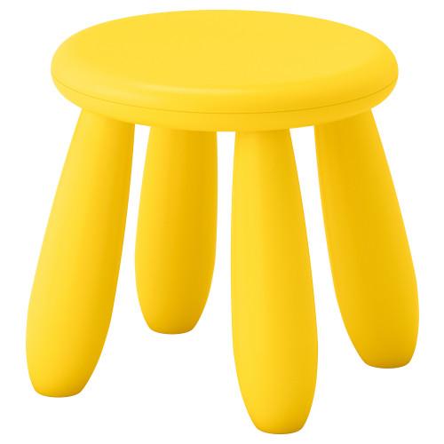 МАММУТ Табурет детский, для дома/улицы, желтый, 20382324 IKEA, ИКЕА, M