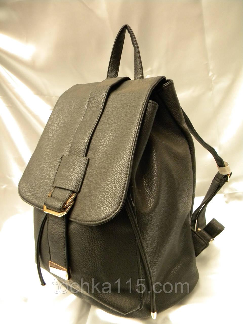f163d2543d97 Стильный женский рюкзак, черный кожаный рюкзак, рюкзак для девочки ...