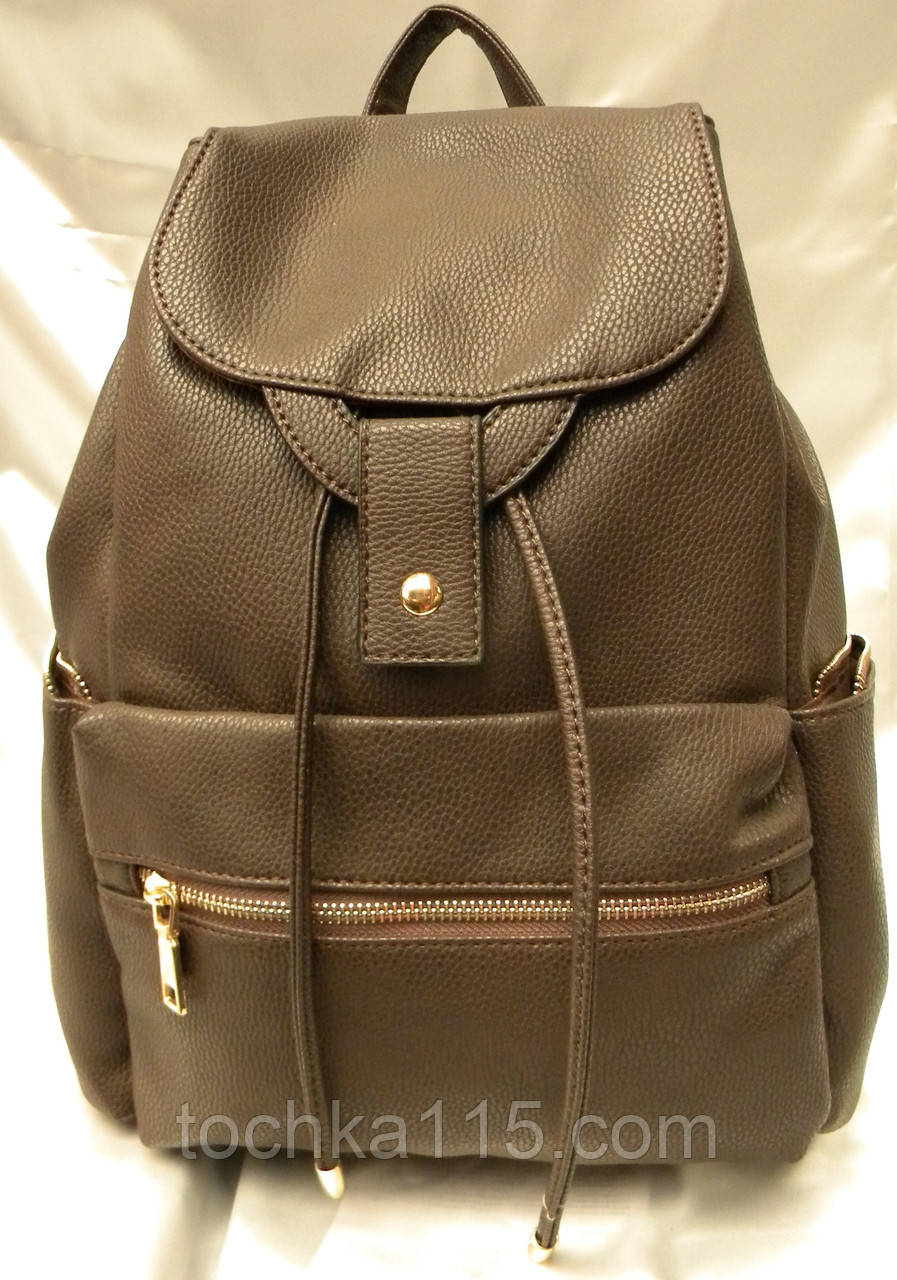 44ebe949ce15 Стильный женский рюкзак, коричневый кожаный рюкзак, рюкзак для девочки,  городской рюкзак