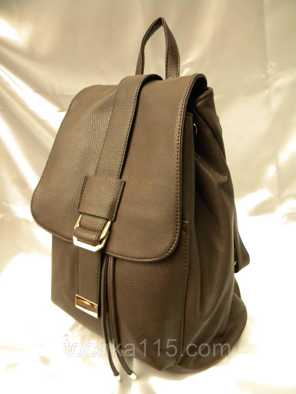 ac7d6ad1ddd6 Стильный женский рюкзак, коричневый кожаный рюкзак, рюкзак для девочки,  городской рюкзак