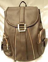 Стильный женский рюкзак, рыжий кожаный рюкзак, рюкзак для девочки, городской рюкзак