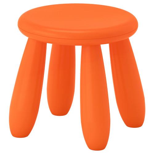 МАММУТ Табурет детский, для дома/улицы, оранжевый, 50365361 IKEA, ИКЕА