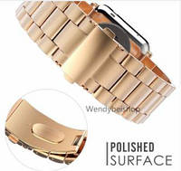 Регулируемый сменный ремешок из нержавеющей стали Apple Watch 42 mm, Rose Gold
