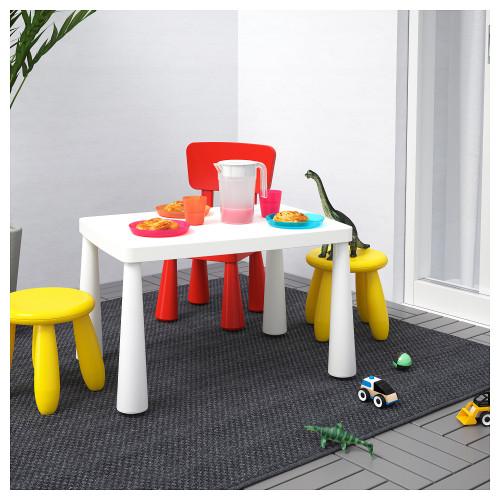 МАММУТ Стол детский, для дома/улицы, белый, 77x55 см, 50365177, IKEA, ИКЕА, MAMMUT 3