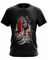 """Модная и качественная футболка в стиле """"Санта Муэрте"""" (MF-81-15)"""