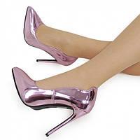 Сиреневые женские туфли на шпильке NML-152077