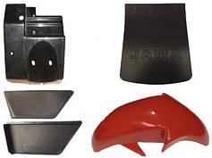 Детали рамы и облицовки мотоцикла Ява