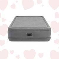 Intex 64470 (152х203х51 см) + 220V. Двуспальная надувная кровать серии Foam Top Airbed.