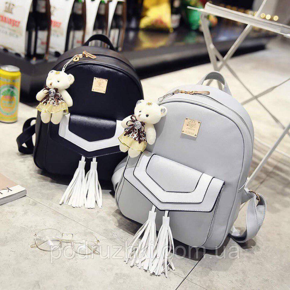 7e782c6407f9 Женский красивый комплект рюкзак + клатч + кошелёк + визитница 4В1  (расцветки) - Интернет