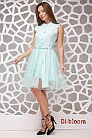 6fc9977a2a5 Женское платье с красивой сеткой и поясом в расцветках. Ю-6-0717