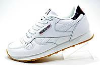 Женские белые кроссовки Reebok Classic Leather, кожаные