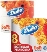 Туалетная бумага Диво белый 8рул