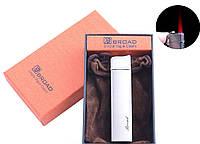 Зажигалка в подарочной упаковке BROAD (Турбо пламя) №4471 Silver
