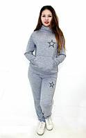 """Костюм женский спортивный, прогулочный """"Звезда"""". Материал ангора-меланж, разные цвета и размеры."""