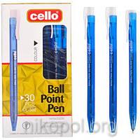 Ручка масляная Cello CL-502 синяя, автоматическая