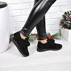 """(37 и 38 РАЗМЕРЫ) Кроссовки, кеды, мокасины женские черные """"Еar bow"""", спортивная обувь, фото 2"""