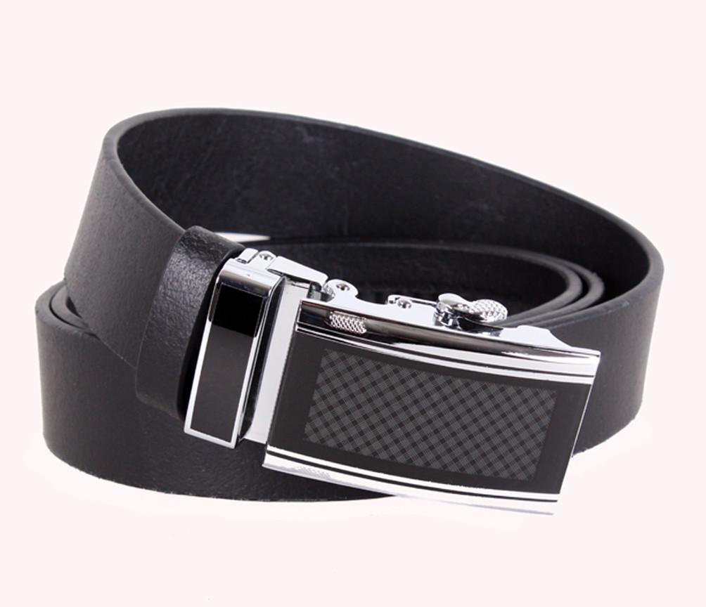 Мужской кожаный ремень Dovhani ASP888-30 115-125 см Черный
