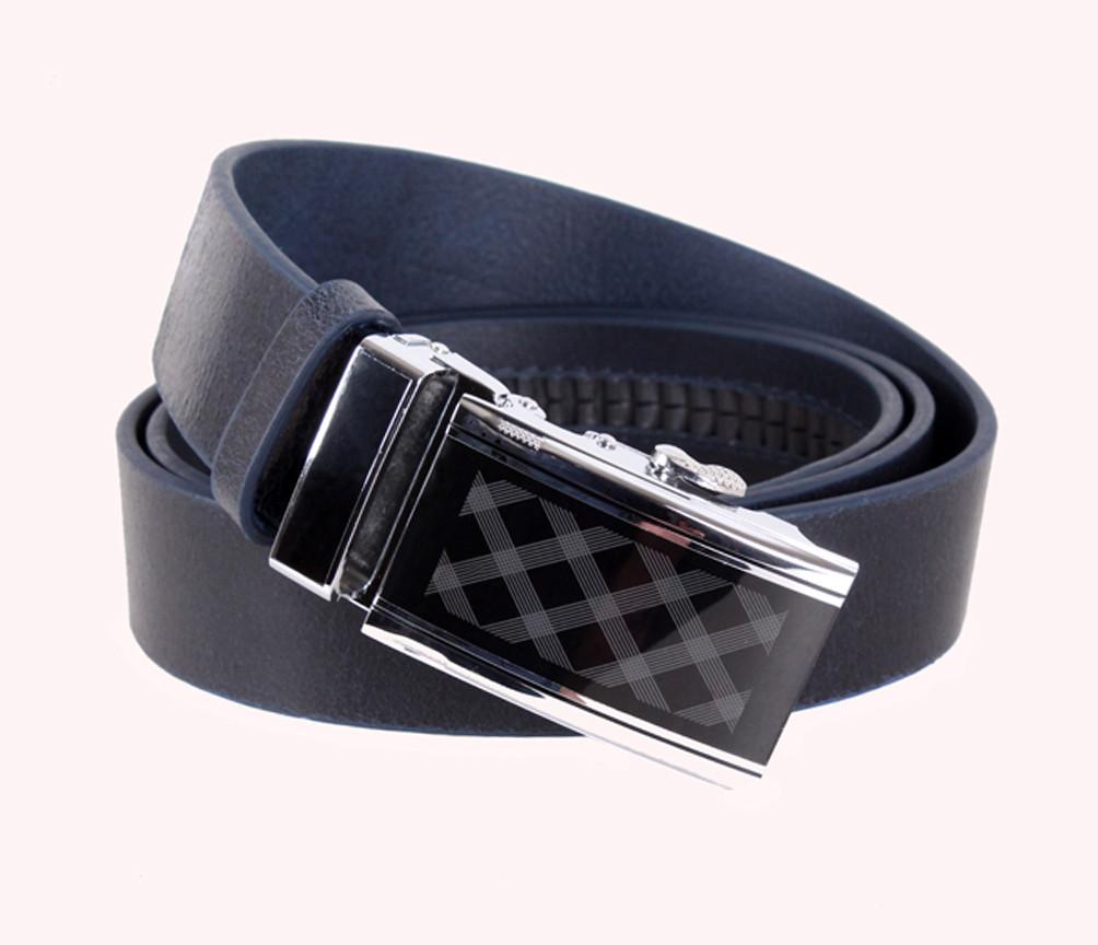 Мужской кожаный ремень Dovhani ASP888-33 115-125 см Синий
