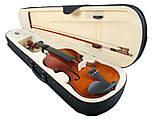 Скрипка Классическая 4/4 Чёрный цвет + кейс (3 цвета), фото 3