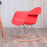 Кресло качалка пластиковое с буковыми полозьями Тауэр R, Реплика на кресло-качалку Eames RAR Style,