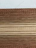 Рулонные шторы День-Ночь ВН-603 коричневый, фото 3