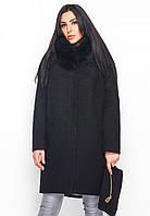 Женское зимнее пальто прямого силуэта 48 размер
