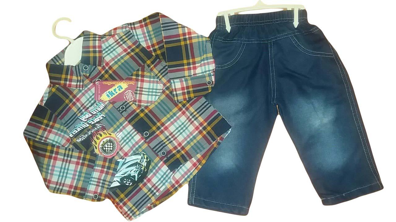 Костюм (рубашка,джинсы) для мальчика, размеры 1,2,3 года, арт. 737